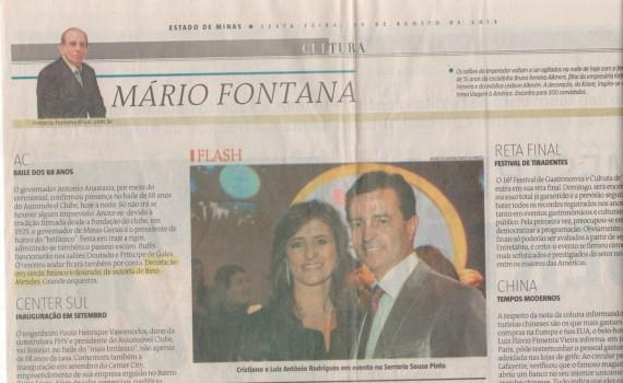 Mário Fontana no jornal Estado de Minas